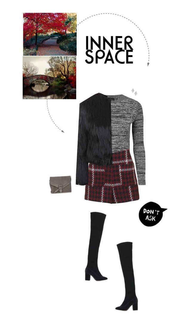 """""""Red, Grey & Black Outfit."""" by xabbielou ❤ liked on Polyvore featuring Topshop"""