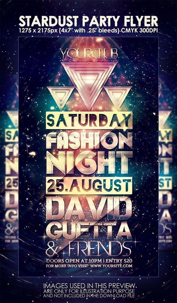 Stardust Night Club Party Flyer By Muzikizumweb On Deviantart