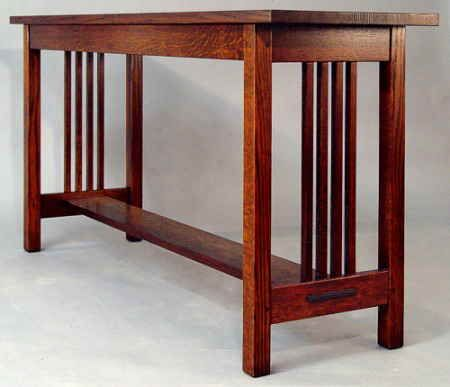 MISSION SPINDLE SOFA TABLE school stuff Pinterest Sofa tables