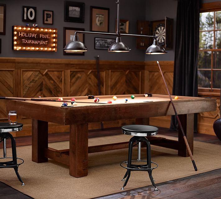 Pool Table Rustic Mahogany Griillikatos