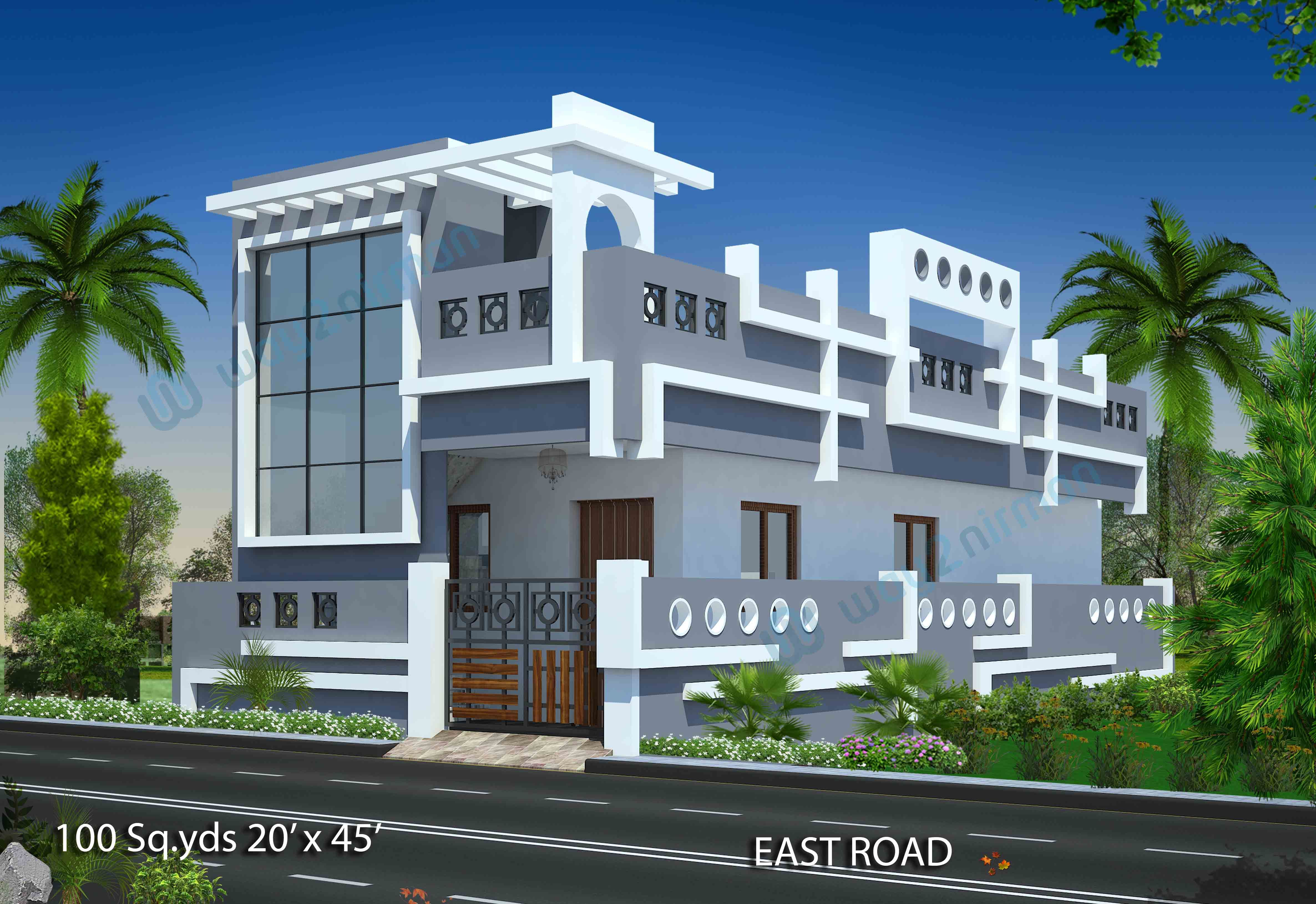 Download Free Plans 100 Sq Yds 20x45 Sq Ft East Face House 1bhk