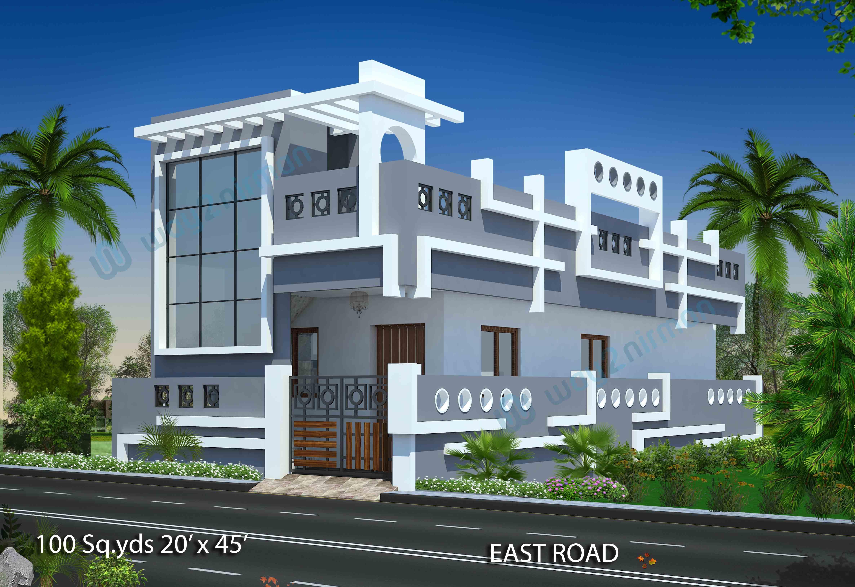 30 X 45 Duplex House Plans East