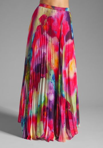 ALICE   OLIVIA Shannon Printed Maxi Skirt in Jungle Floral ...