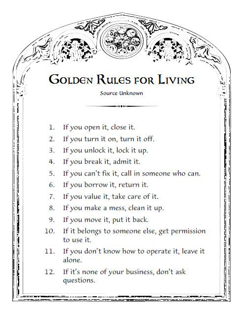 image regarding Golden Rule Printable known as basic laws for daily life Phrases In the direction of Reside By way of. Golden rule