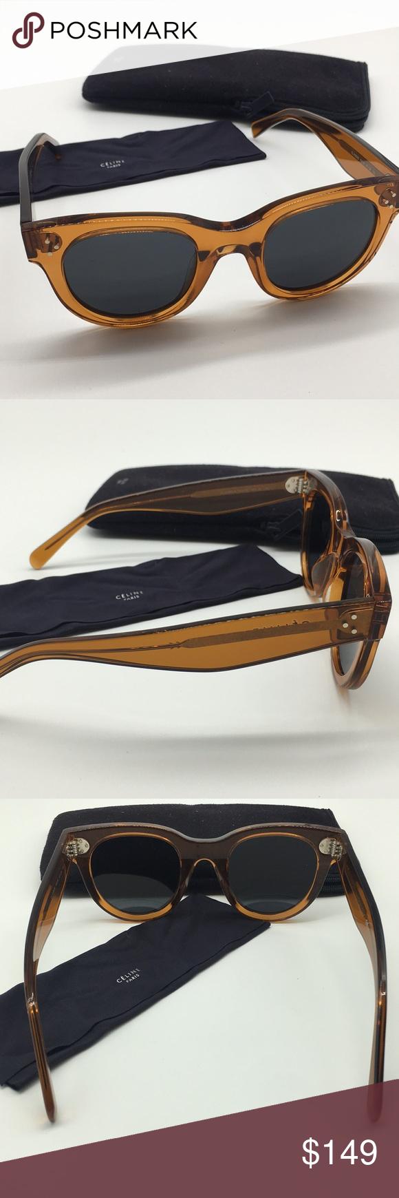 dec23ab584c19 NEW Celine Baby Audrey Orange Crystal Sunglasses These are SO ...