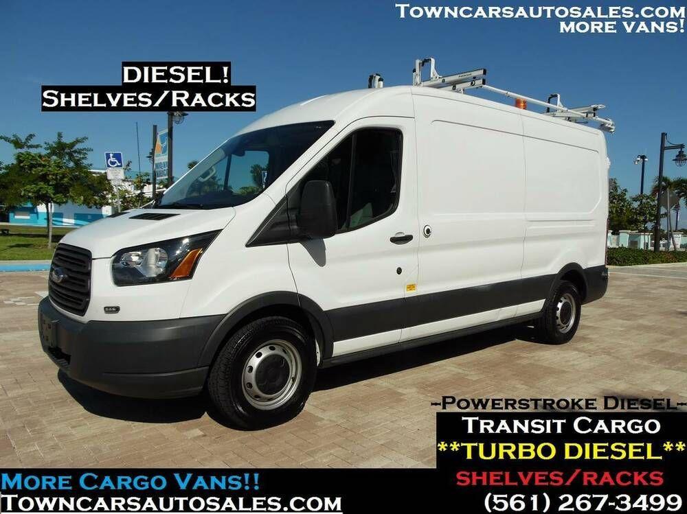 2016 Ford Transit Diesel Extended Raised Roof Loaded Medium Roof Cargo Van W Sliding Door Ford Transit Cargo Van Diesel