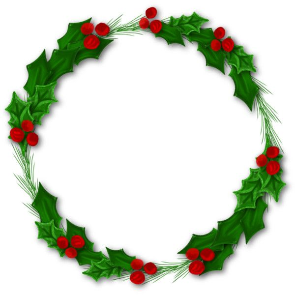 2_Watercolor Christmas (3)png found on Polyvore Christmas Wreaths