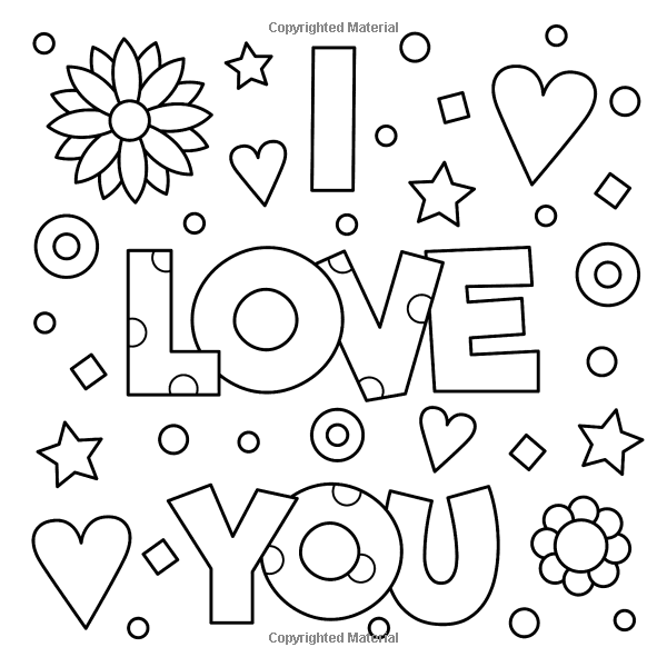 Positive Words Coloring Book