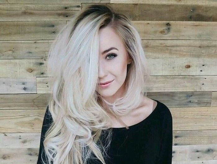 1001 looks qui vous font oser les cheveux couleur blond polaire blond platine coiffure. Black Bedroom Furniture Sets. Home Design Ideas