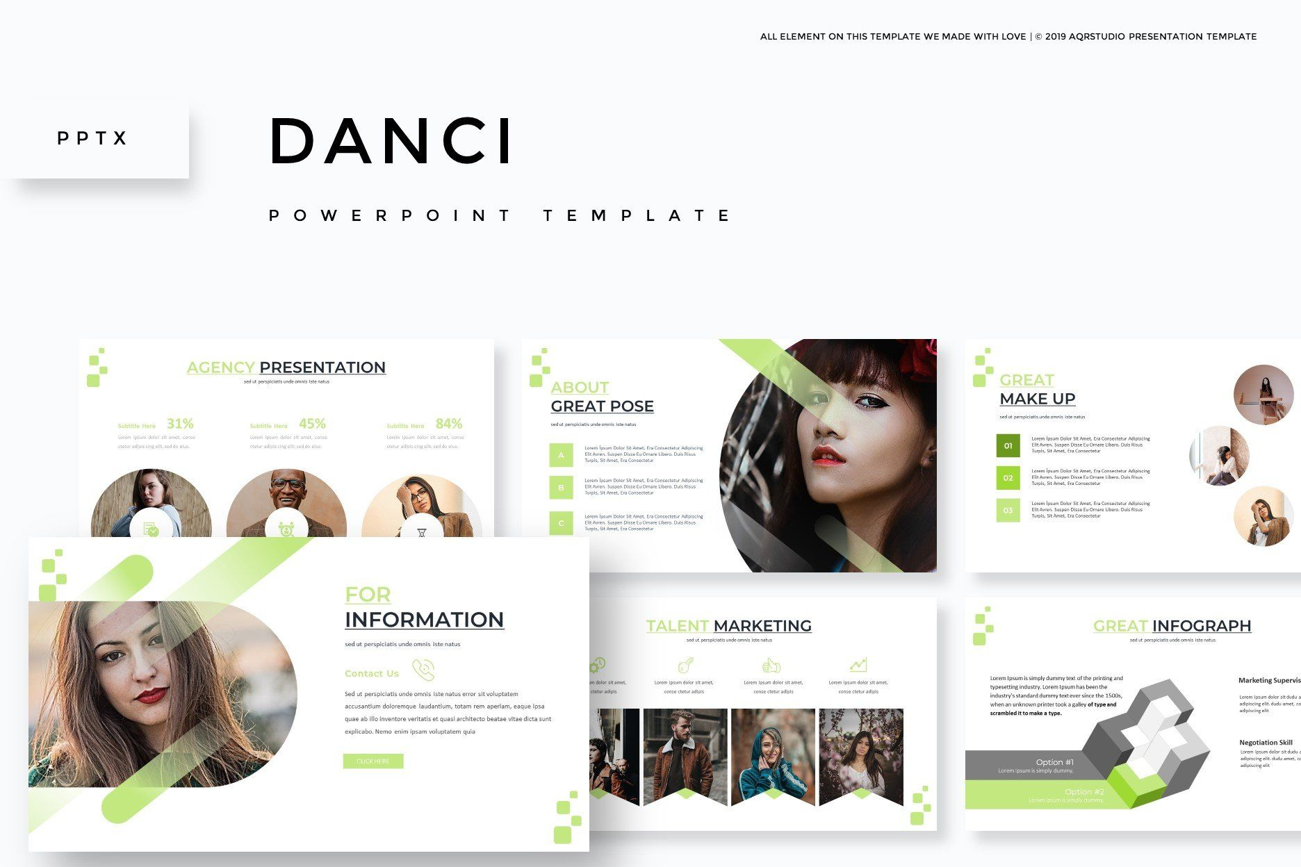 Danci Powerpoint Template By Aqr Studio On