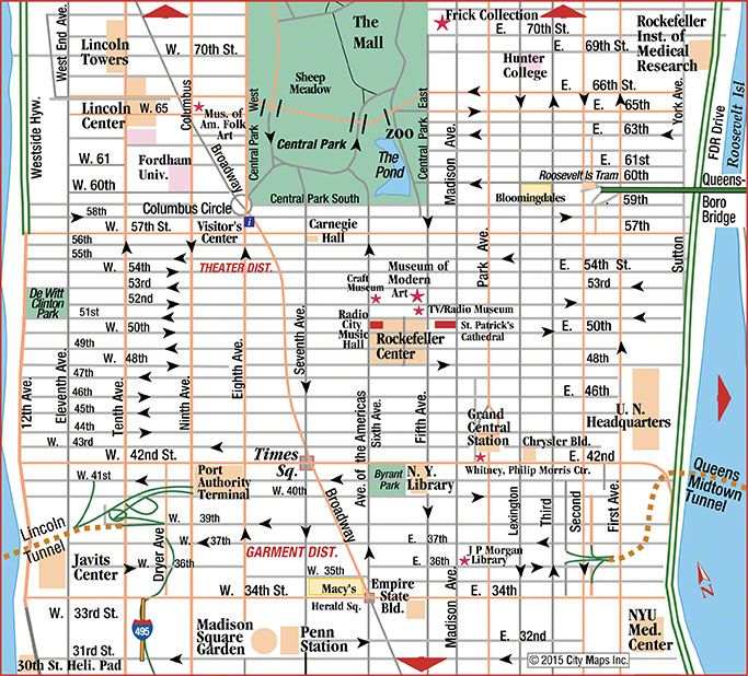 Remarkable image within map of midtown manhattan printable