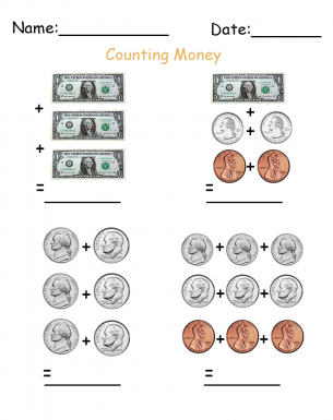 Practice Money Worksheet Money Worksheets Teaching Money Money Skills