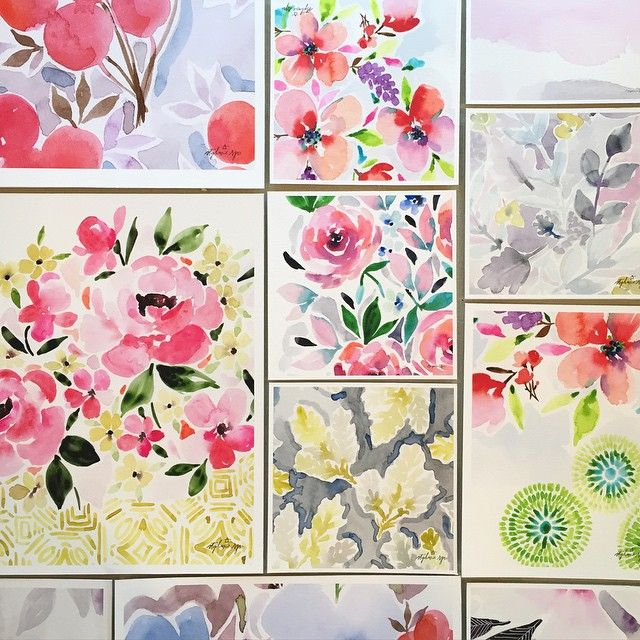 watercolour florals by stephanie ryan