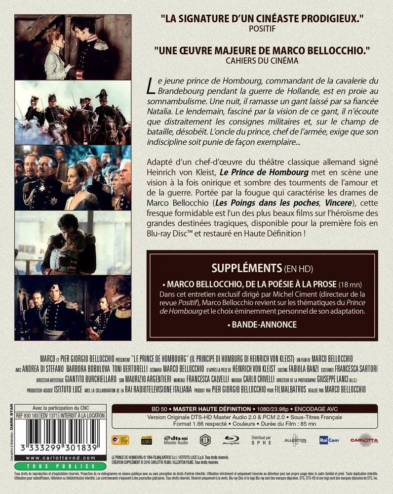 Le Prince De Hombourg Francia Blu Ray De Prince Le