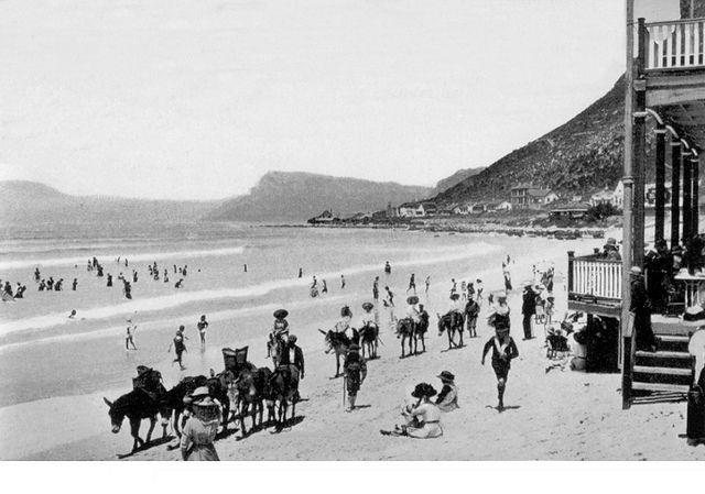 Donkey rides on Muizenberg Beach 1900