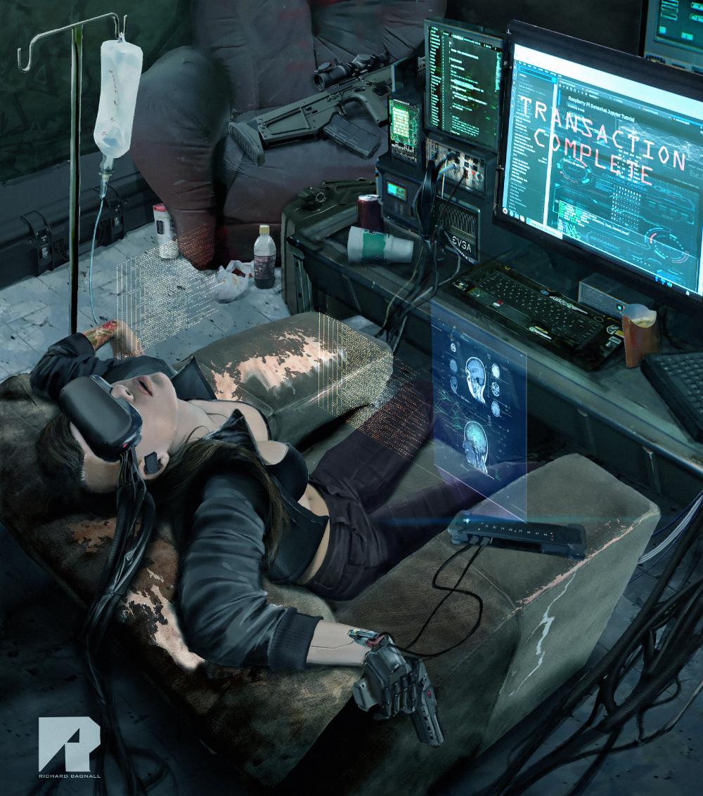 ArtStation Cyber Net Runner, Richard Bagnall in 2020