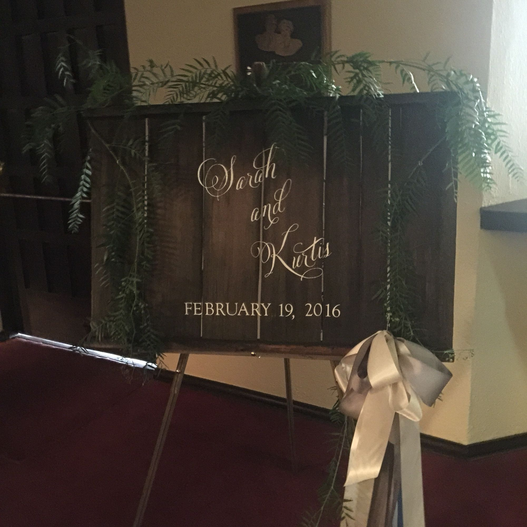Easel wedding announcement