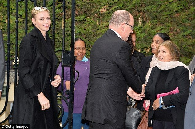 Prince Albert II and Princess Charlene of Monaco Visit the Croix Rouge Monégasque.
