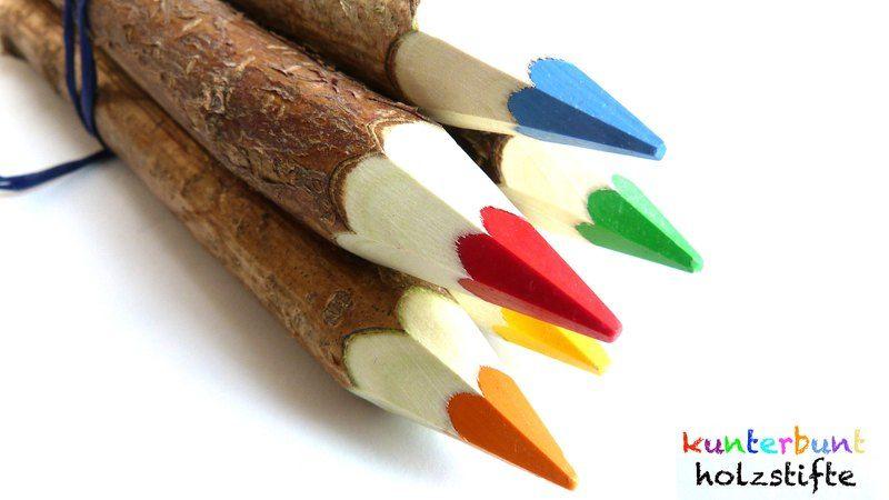 """Buntstifte - *SONDERANGEBOT*Naturholzstift """"MINI MEE&qu... - ein Designerstück von Kunterbunt-Holzstifte bei DaWanda"""