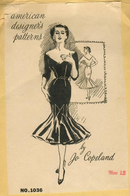 Spadea American Designer's Pattern 1036, Jo Copeland, ca 1958; Sz 14/Bust 36.5'', Waist 26.5''