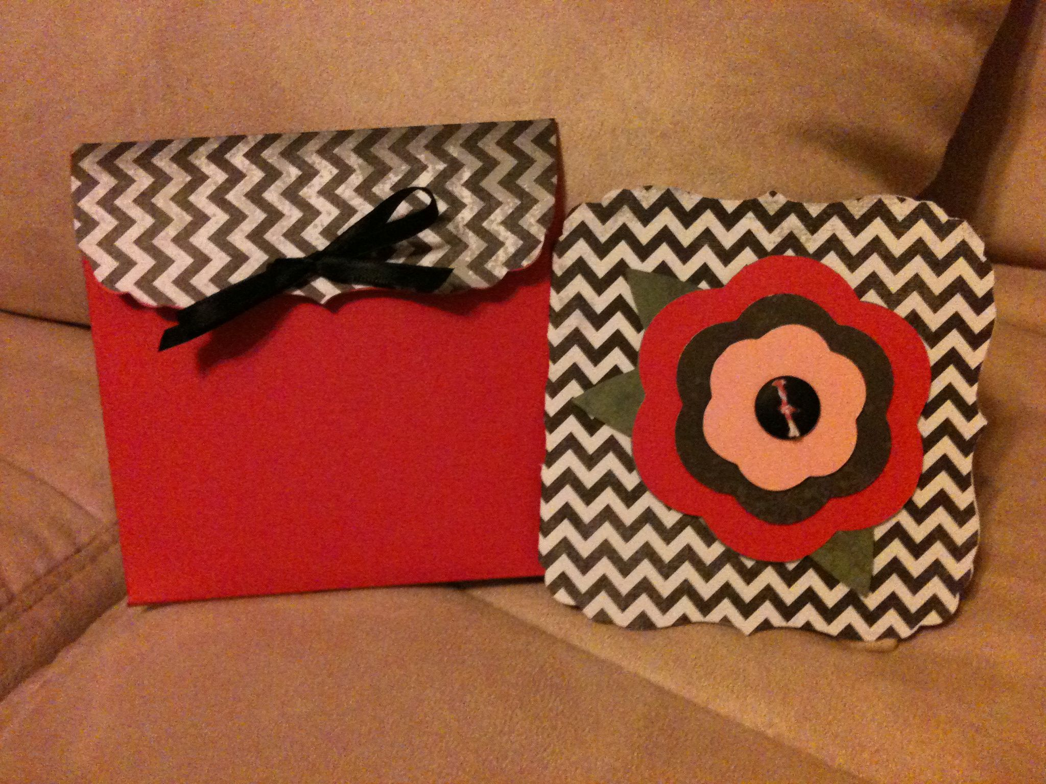 Card with envelope made with cricut gifts gift wrapping