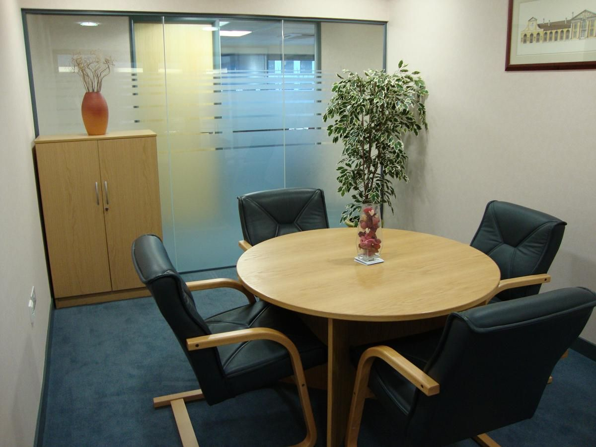Need some quiet time. A formal small meeting room provides it.