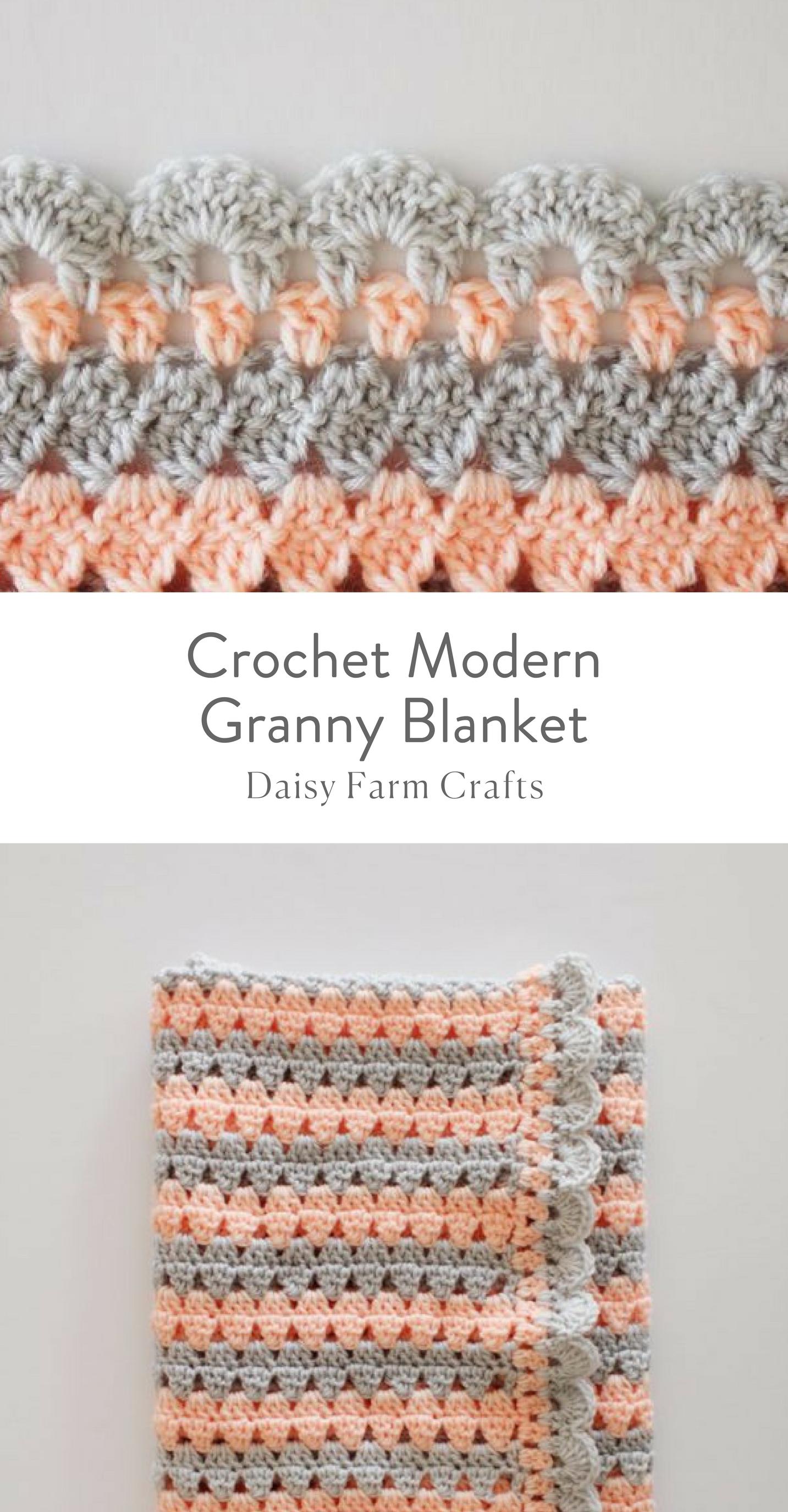 Free Pattern - Crochet Modern Granny Blanket | szydelko | Pinterest ...