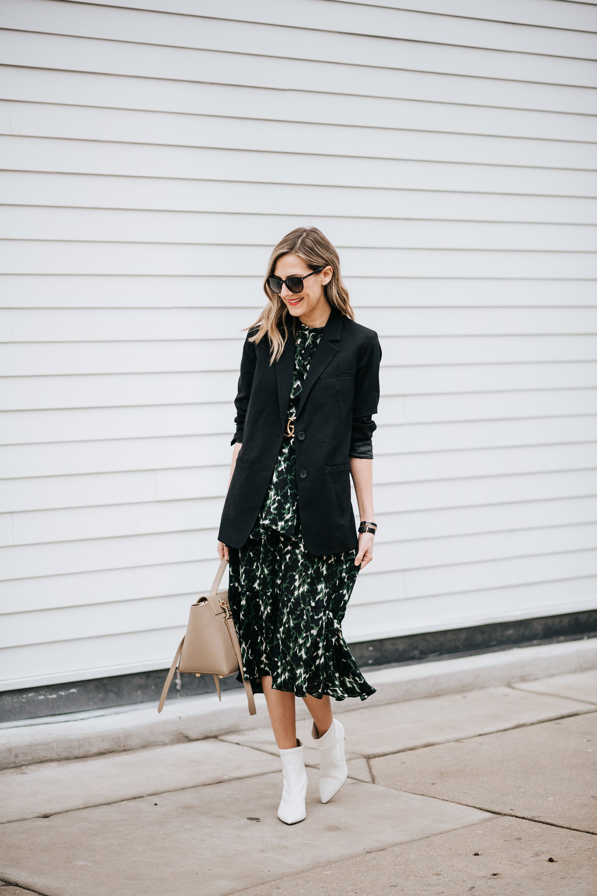 dress with booties spring