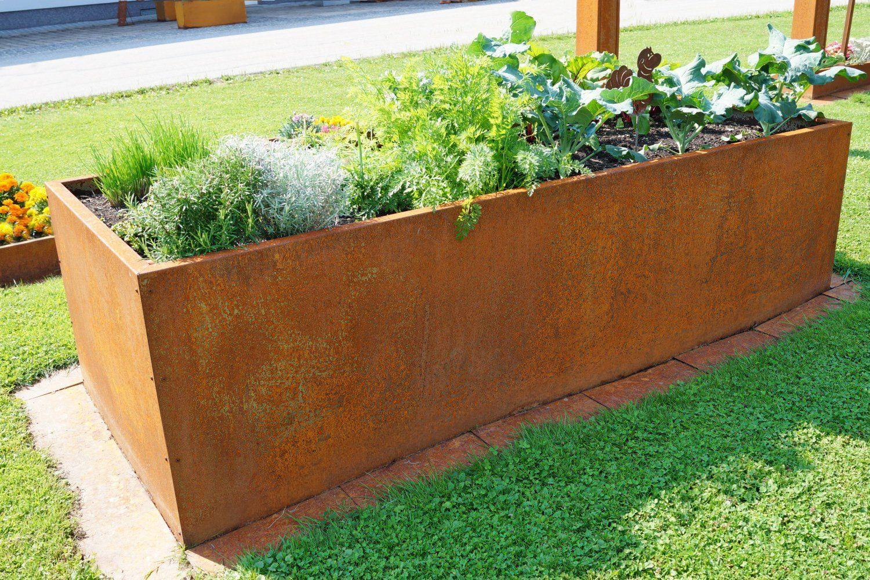 Prima Terra Hochbeet Bausatz Edelrost Masse 236x118cm Hohe 78cm Amazon De Garten Garten Hochbeet Garten Garten Pflanzen