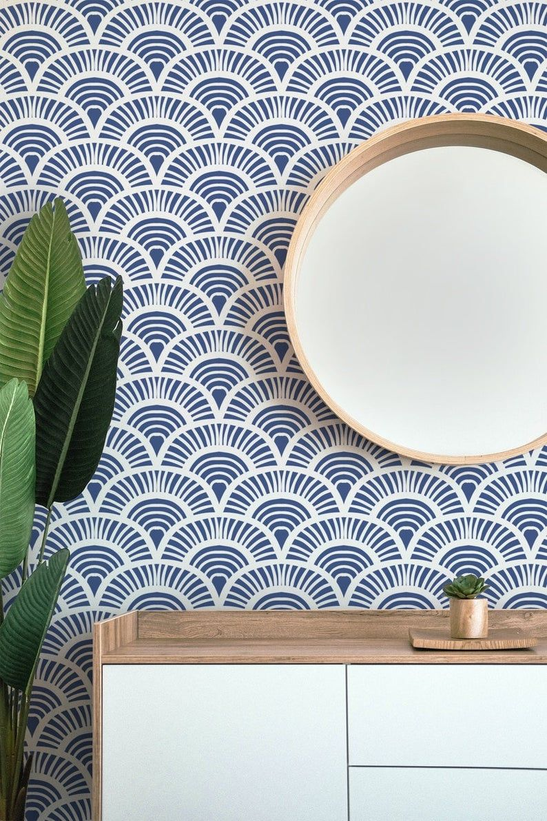 Art Deco Arch Removable Peel Stick Self Adhesive Wallpaper Etsy Removable Wallpaper Self Adhesive Wallpaper Textured Walls