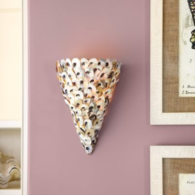 Wall Sconces Ballard Designs : Oyster Shell Wall Sconce Ballard Designs Lighting Pinterest Sconce lighting, The o jays ...