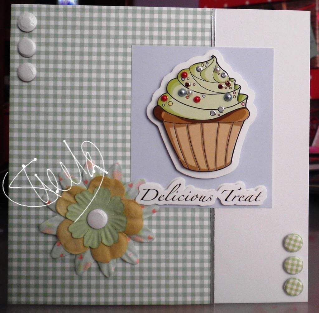Cupcake topper by BuzzCraft. Craftwork cards, Crafts