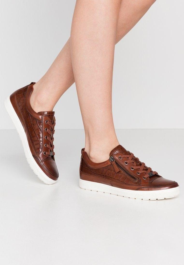 Zalando Caprice Sneakersy Kolor Cognac Top Sneakers Shoes High Top Sneakers