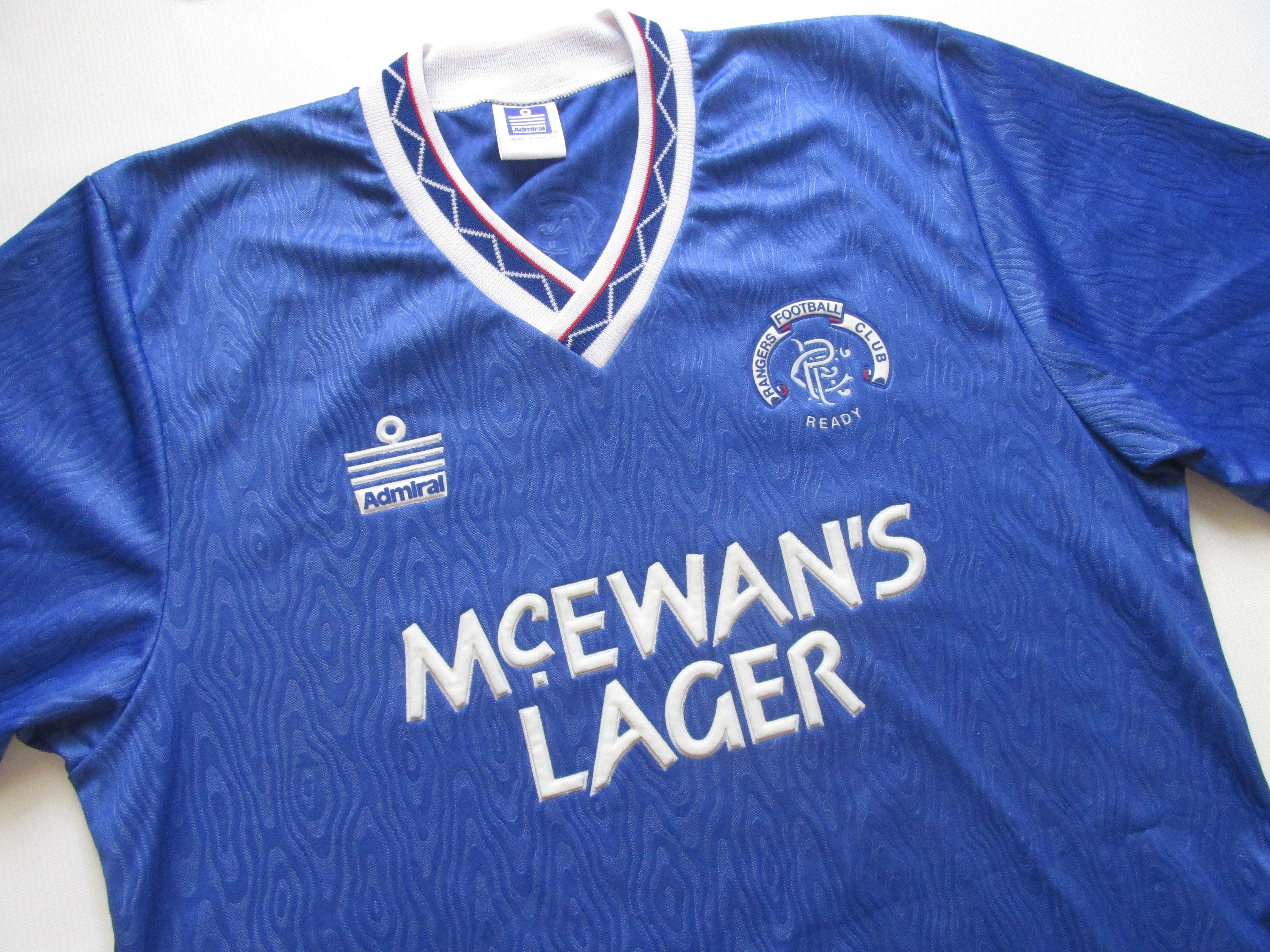 cd727afff Rangers Glasgow 1990 1991 1992 home football shirt by Admiral vintage 90s  retro soccer jersey RFC Scotland  Rangers  Glasgow  Scotland  RFC  90s   vintage ...
