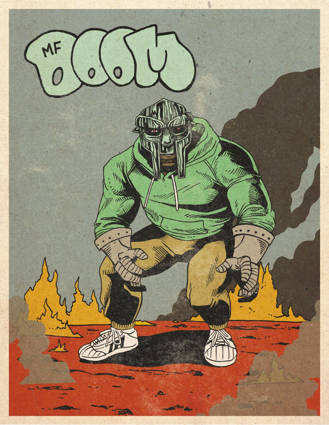 Mf DooM hip hop Vintage Retro trippy PSYCHEDELIC art POSTER No Frame