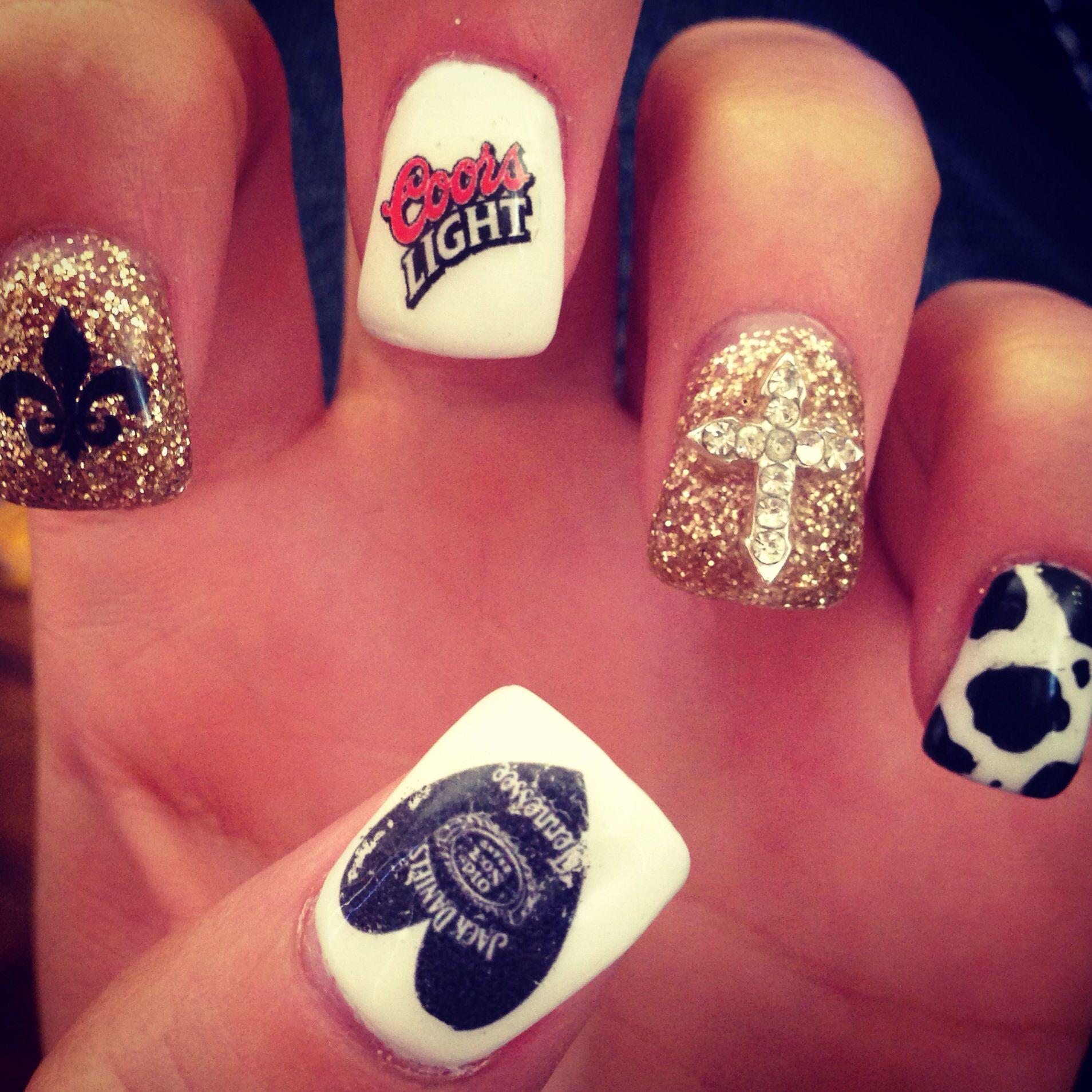 Country Girl Nail Art: Rodeo Nails, Sassy