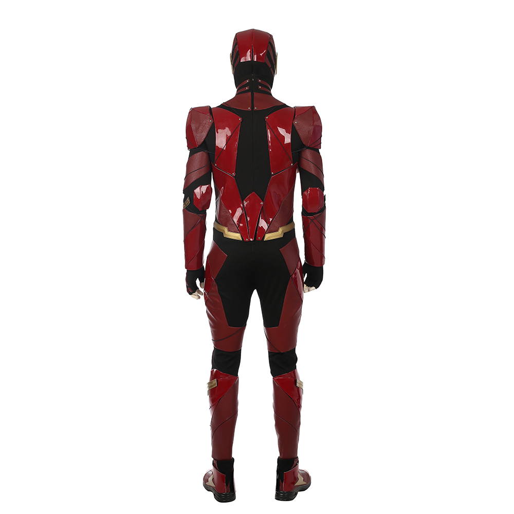Justice League The Flash Cosplay Costume Red Patent