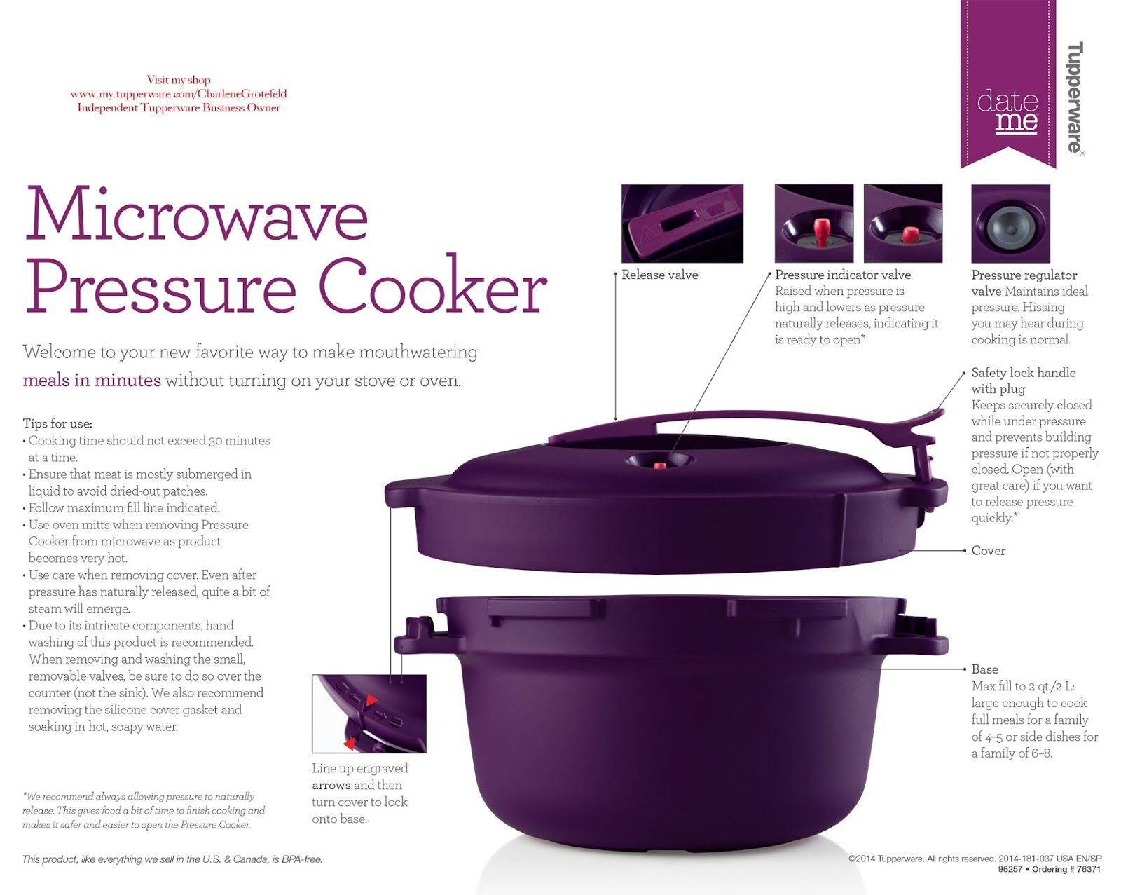 bpa free kitchen tupperware microwave pressure cooker explained and recipes projects to try. Black Bedroom Furniture Sets. Home Design Ideas