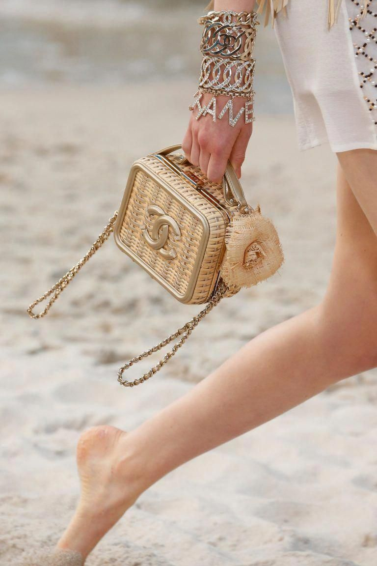 12933dd4cafff4 Chanel Beige Wicker Mini CC Filigree Vanity Bag - Spring 2019  #Chanelhandbags