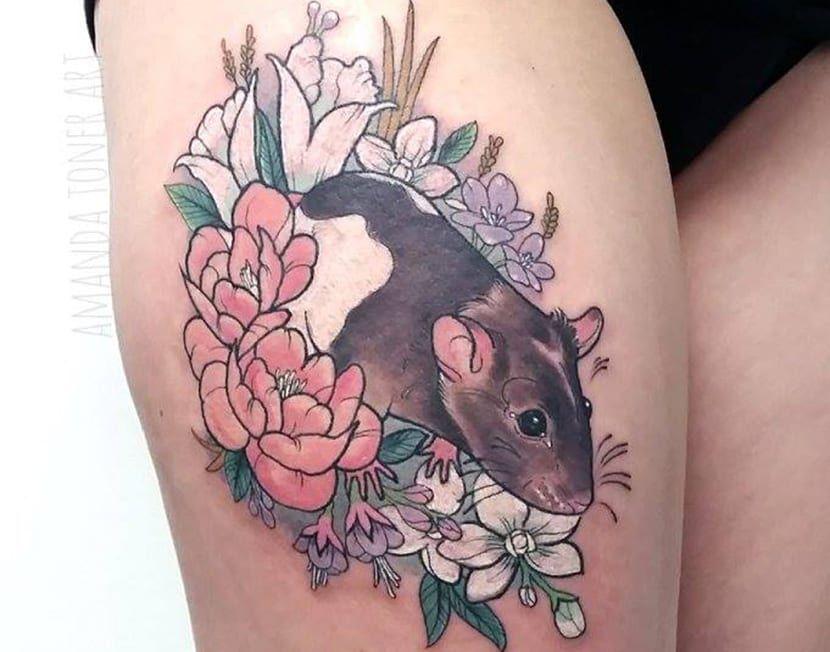 Tatuajes de ratas: significado y recopilación de diseños