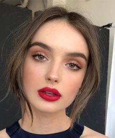Soft Glam Makeup Looks Red Lips Easy Simple Glam Makeup Looks
