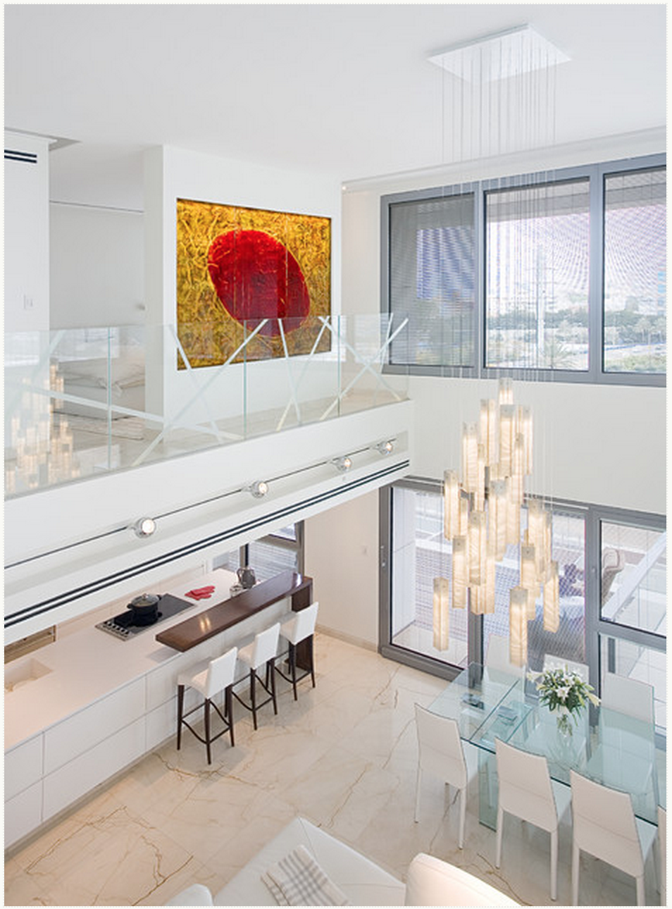 Even etched glass looks fantastic bringing a more contemporary flair to a usually minimalist and modern design choice