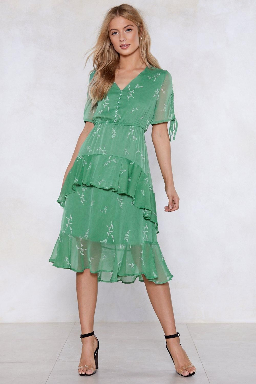 b384e36128 The Spring Affair Dress comes in sheer chiffon and features a solid  underlay