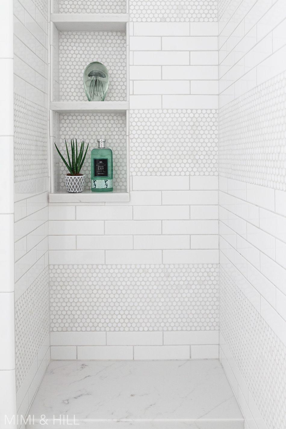 Bathroom Shower Subway Penny Tile Bathroomdesignusingsubwaytiles Penny Tiles Bathroom Shower Tile Designs Shower Tile