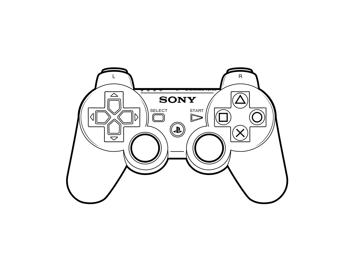 Playstation 3 Controller New Year Coloring Pages Playstation Tattoo Video Games Birthday Party