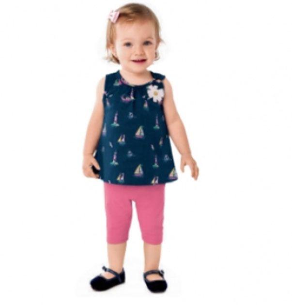 Conjunto Blusa + Legging Modelagem Curta. Tam: 01-02-03
