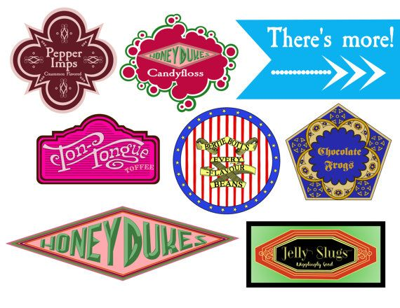 Harry Potter Inspired Candy Labels And Tents Movie Marathon Decorations Instant Digital Download There Are So Many Great HP Box Templates