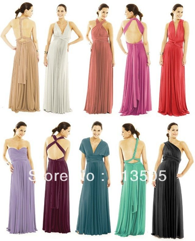Maxi Dress Free Shipping Cheapest Jersey Multi Way Wraps Nude Convertible  Bridesmaid Dress Evening Party Dresses Long Style-in Apparel   Acc.. bec02a18c2c4