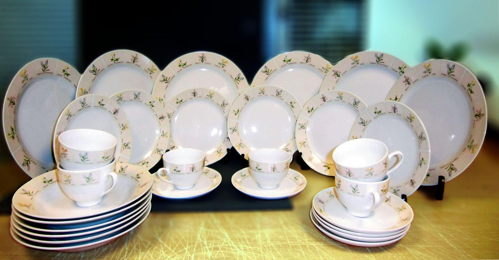 30 Piece Herb Porcelain Pattern Design High Quality Porcelain Dinner ...
