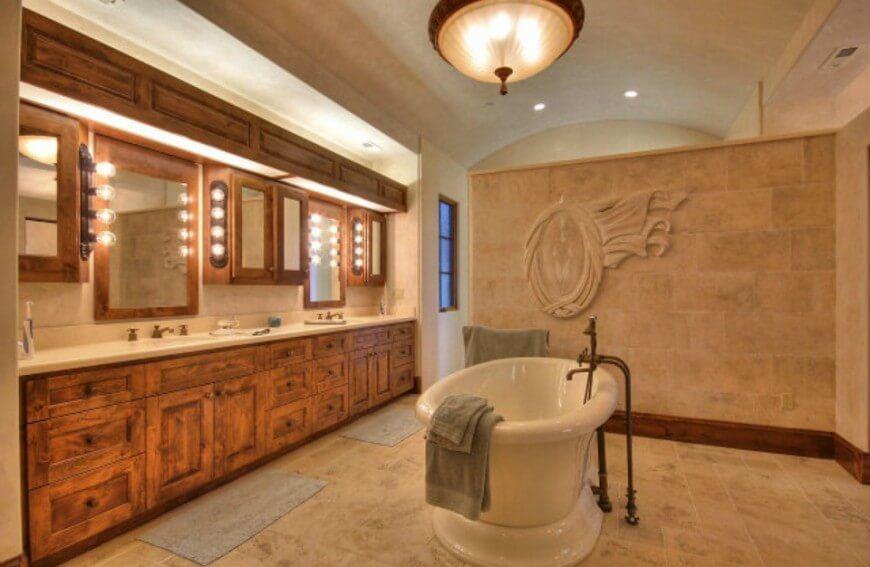 Tuscan master bathroom